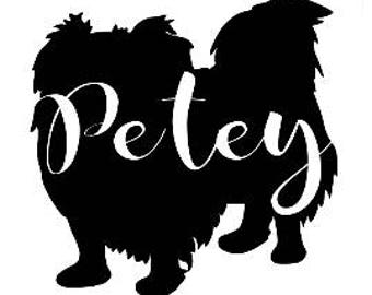 Pekingese Silhouette Customized Decal Dog Sticker