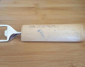 San Diego Padres baseball bat bottle opener