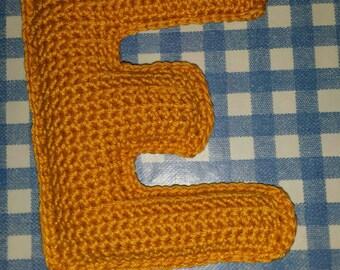 Crochet Letter Rattle