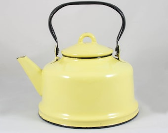 Classical Vintage Enamel Teapot