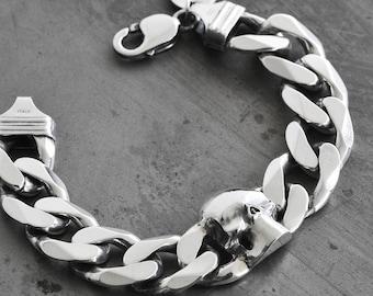 Chain & Skull Head Bracelet