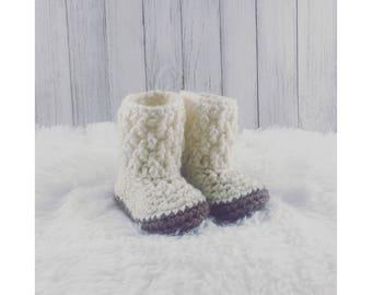 Baby Booties, Baby Boots, Baby Booties Crochet, Baby Girl, Baby Shower, Baby Gift, Gift for Girl