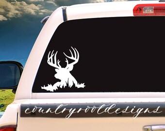 Buck Vinyl Decal, Tumbler Decal, Vinyl Decal, Buck Decal, Buck, Deer Decal, Deer Hunting, Hunting, Hunting Decal, Hunter, Car Decal, FFA