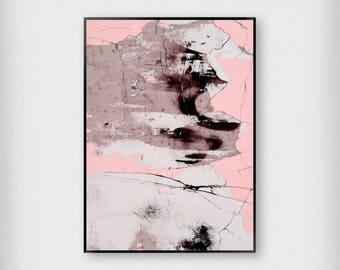 Concrete Print   Bedroom   Pink   Distressed - Sleep - Poster