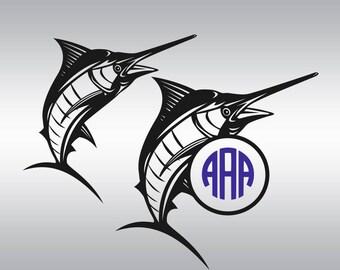 Fishing svg file, Bass svg, Swordfish svg, Monogram svg, Boating svg, Boat svg, Fish svg, Cricut, Cameo, Clipart, Svg, DXF, Png, Pdf, Eps