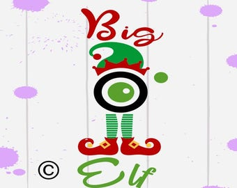 Big elf cam christmas SVG Clipart Cut Files Silhouette Cameo Svg for Cricut and Vinyl File cutting Digital cuts file DXF Png Pdf Eps