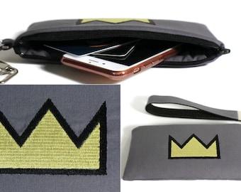 Phone Case, Crown iPhone Wristlet, iPhone Wristlet, iPhone 7 Case, Samsung Galaxy Note Case, iPhone 6s case, iPhone wallet
