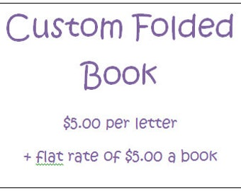 Folded Book Art- Custom