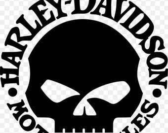 Willie G Skull Vinyl Decal