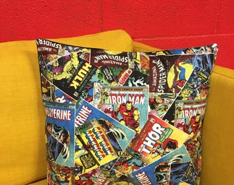 Comic book print pillow cover
