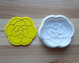 Camellia Cookie Cutter and Stamp