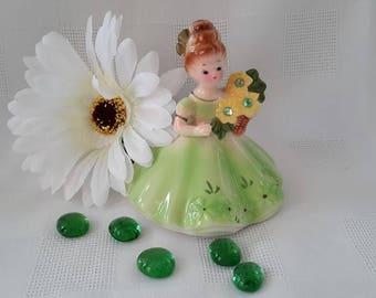Josef Originals August Birthday Girl Figurine, Japan c.1960