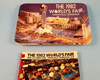 Lot of Vintage World's Fair collectibles... collectible plate and booklet...in great vintage shape