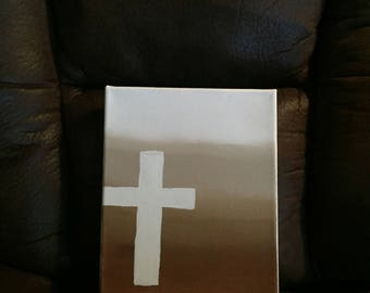 Painted Cross Canvas