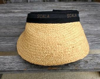 Scala Sun Visor Woven Natural Fiber