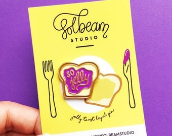 So jelly toast soft enamel pin-lapel pin-hat pin-brooch