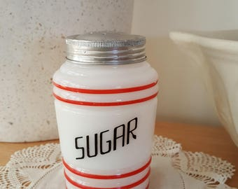 Art Deco Hazel Atlas Milk Glass Sugar Sifter