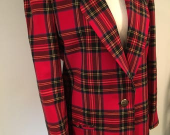 Vintage tartan plaid jacket