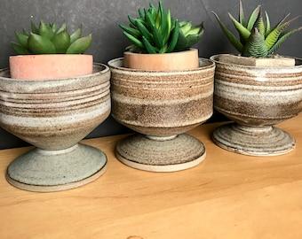 Beautiful vintage pottery bowls set of 3