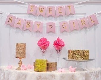 Sweet Baby Girl | Baby Shower Banner | Its a Girl |