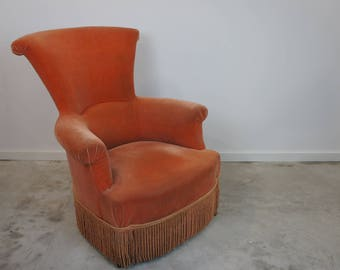 Orange 19th Century Armchair ready to reupholster