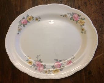 Homer Laughlin virginia rose platter Armand two series LOVELY!