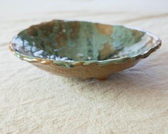 Vintage Ceramic Footed Bowl