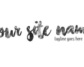 Customized brush stroke logo