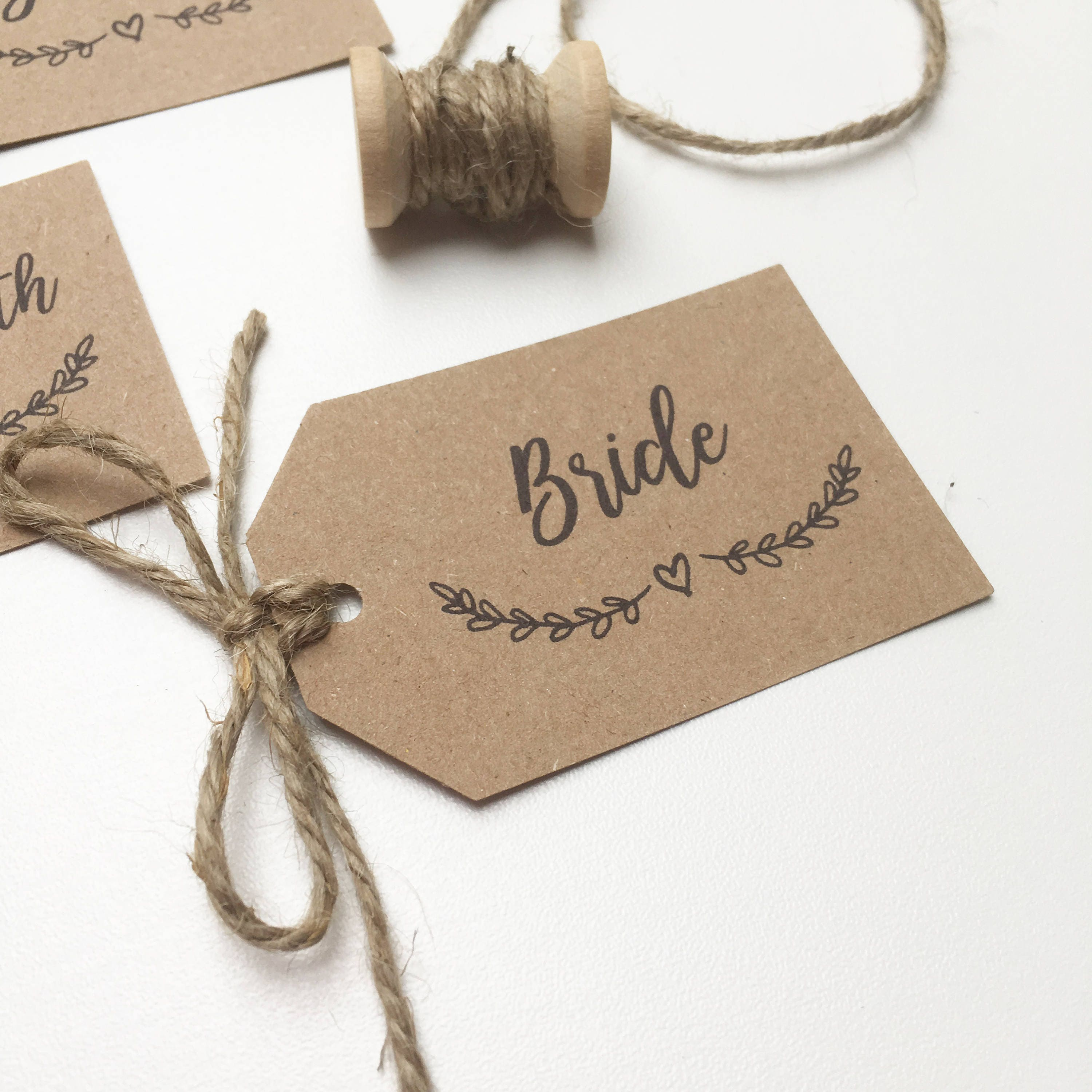 Rustic Wedding Place Name Tags