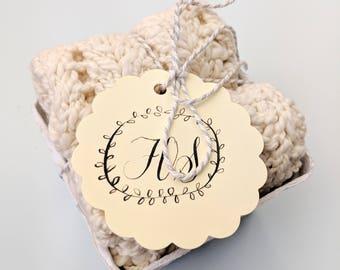 2 x set Handknit Organic Inca Cotton Washcloths Home Baby House Warming Decor Home Gift Shower
