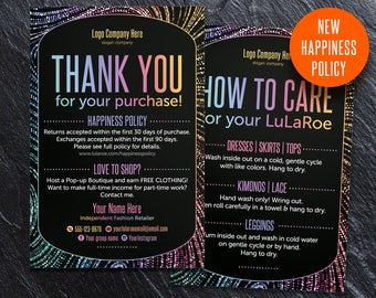 Thank You card, Care card, Thank You Cards, New happiness policy, home office approved font & color, consultant, llr business cards, TC 1
