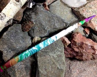 The Mermaid Wand ~ Handmade Magic Wand for rituals or costume