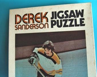"1971 Derek Sanderson Puzzle | Boston Bruins  | 16"" x 20"" | NHL Hockey | Vintage in the Box | 500 Piece | Stanley Cup History"