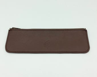 Kit flat brown leather