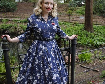 1950's Full skirted dress- one off/bespoke made