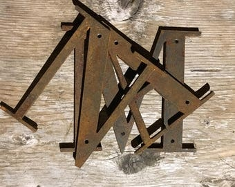 Rustic Metal Letters And Numbers Prepossessing Metal Letters  Etsy Design Decoration
