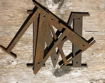 Rustic Metal Letters Brilliant Metal Letters  Etsy Inspiration Design