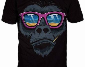 New Ultramodern 3D Party Gorilla Mens T-shirt