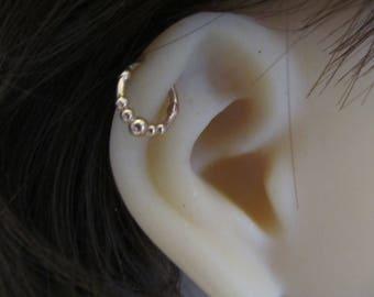 14kt Solid Rose Gold Cartilage Piercing Ring 16g