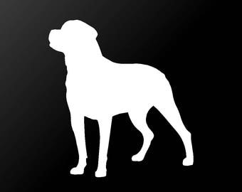 Rottweiler Vinyl Decal Car Window Laptop Dog Silhouette Sticker