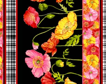 Clothworks Poppy Garden by Barb Tourtillotte - 100% Cotton - Sold by the Yard