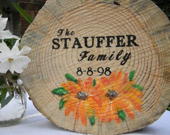 Custom Made to Order Family Sign with Established Date Wedding Gift