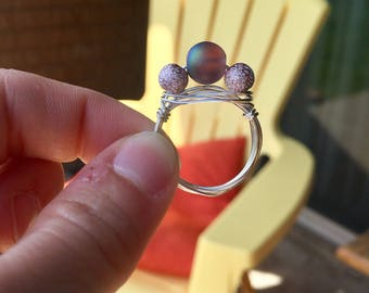 Galaxy Wire-Wrapped Ring