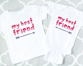 Matching Sibling Clothes, BFF Shirts, Baby Best Friend Shirts or Bodysuit Set, My Best Friend Infant Tshirt, Twin Outfits, Cousin Shirts
