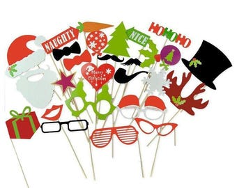 Christmas Photo Booth Props (27pcs)