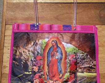 Market Bag, Beach Bag, Eco Friendly, Mexican bag, Multi use bag, Gifts for her,  Reusable bag, Recyclable bag, Virgen