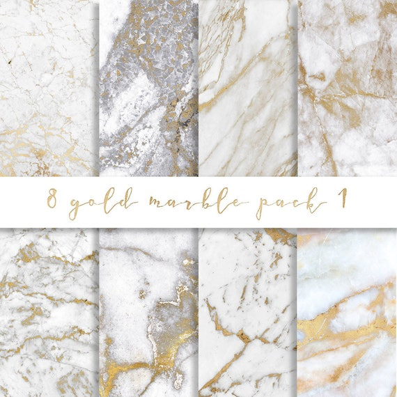 3 For 8 Gold Marble Digital Paper Gold Marble Paper