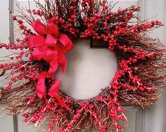 Vine & Red Berry Wreath