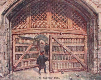 The Traitors Gate, London - Posted - 1905