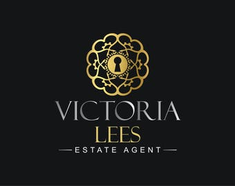 Premade Logo Design, Estate Agent logo, Real estate,Gold Logo Design, Royal Logo, Classy